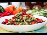 спагетти из цукини рецепт от сыроедного шеф повара Дена Коро