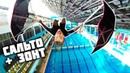 САЛЬТО С 2 ЗОНТАМИ С 10 МЕТРОВ Прыжки в воду привязанным к ногам ЗОНТ ЗА 10000 РУБ.