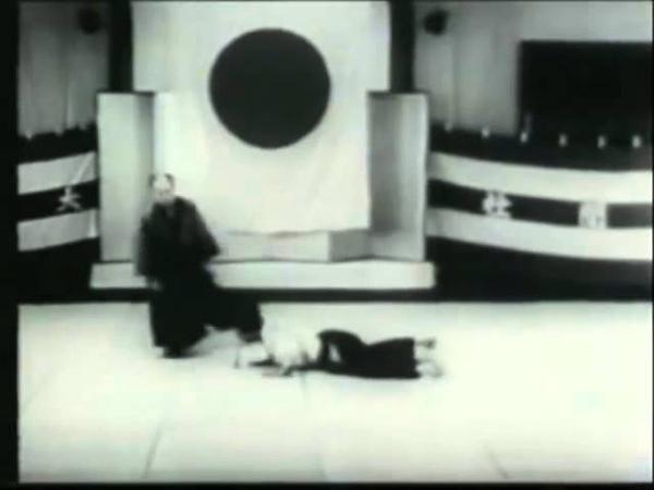 Ueshiba Morihei 1935 Asahi demonstration at real speed