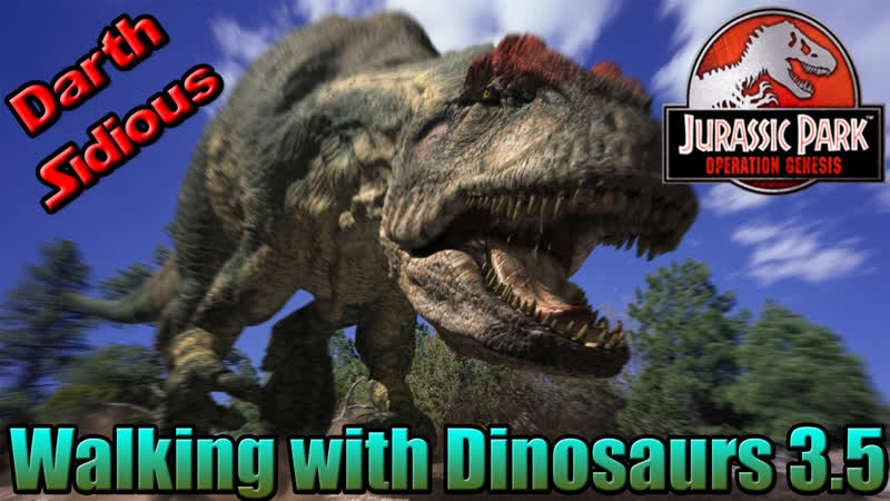 Jurassic Park: Operation Genesis обзор на мод Walking with dinosaurs 3.5