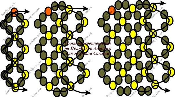 Схема симметричной ажурной