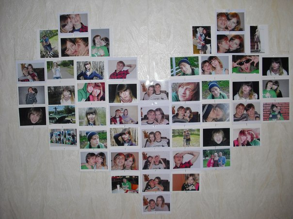 Фотоколлаж на стене своими руками