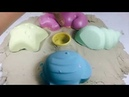 DIY toys with kinetic sand beach toys-Tini Learn colors-zic zic-zon zon