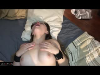 [ homemade &  toys &  close up &  private / glasses ,  , bondage , cumshot in mouth , butt plug , real , amateur , games]