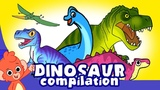 Learn Dinosaurs for Kids Scary Dinosaur movie Compilation t-rex Triceratops