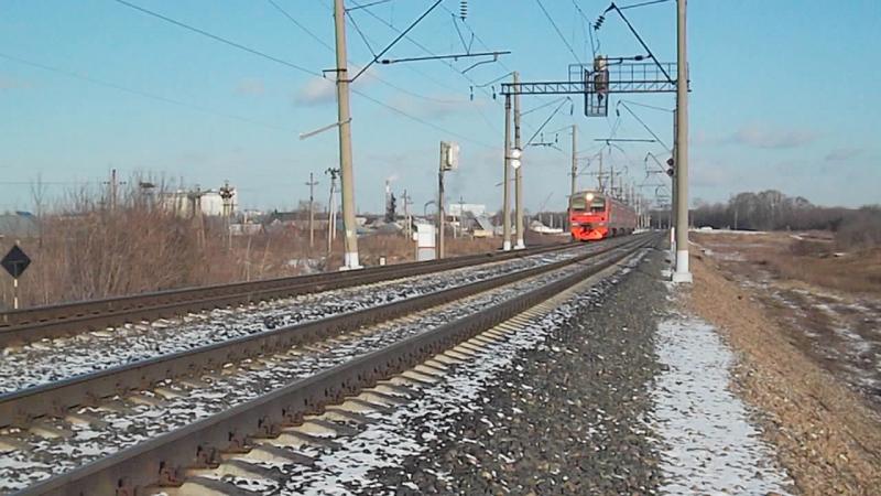Электропоезд-коротышка ЭД9М-0247