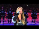The Sexy Pia Toscano Sings Anthem. Anaheim Ducks Vs Los Angeles Kings. May 10th 2014. (HD)