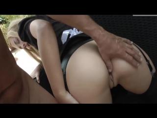 Cumshot in anal maid