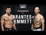 UFC Fight Night  Фелипе Арантес — Джош Эмметт (Полулегкий вес )