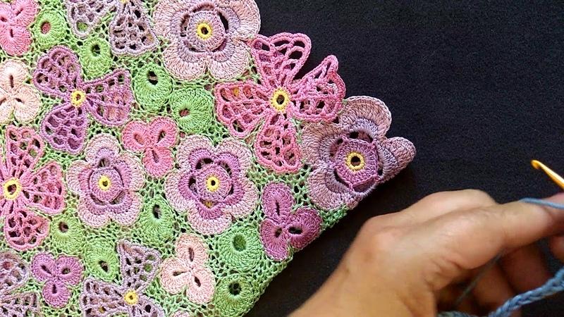 Мастер класс по вязанию крючком. 1 часть МК по элементам кофточки Цветик-Семицветик.