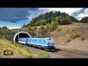 Fast trains in Czech Republic 160km h Tunnels part Freight trains Czech railways 4K