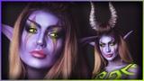 Night Elf Demon Hunter World of Warcraft CosplayBodypaint Djarii