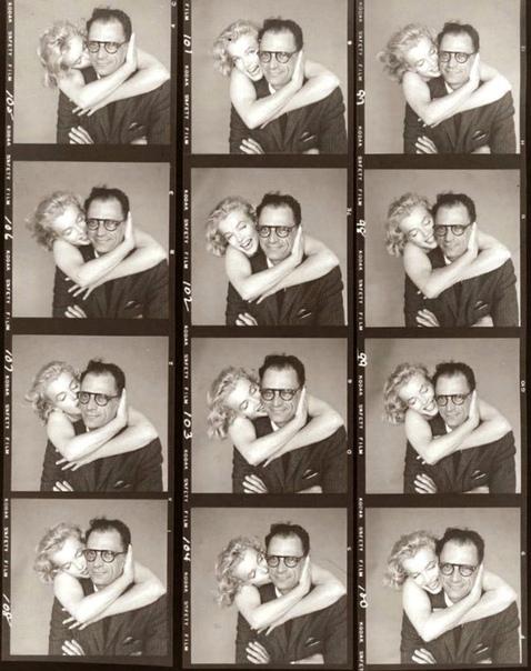 Мэрилин Монро и Артур Миллер (её 3-й муж) 1957г.Фото: Richard Avedon.