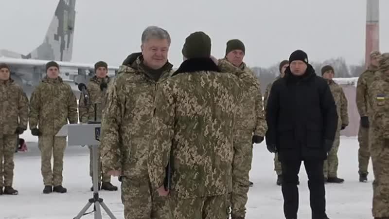 Головнокомандувач Збройних Сил України Петро Порошенко передав до Збройних Сил України потужну військову техніку