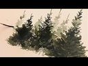 Paint christmas trees in watercolour with Alek Krylow