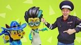 Видео для детей про игрушки. Игры в полицейских! Кто поймал Ромео