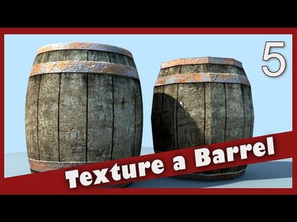 Texture a Barrel in Maya Lighting
