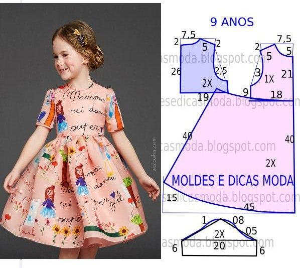 Из чего сшить ребенку платье 318