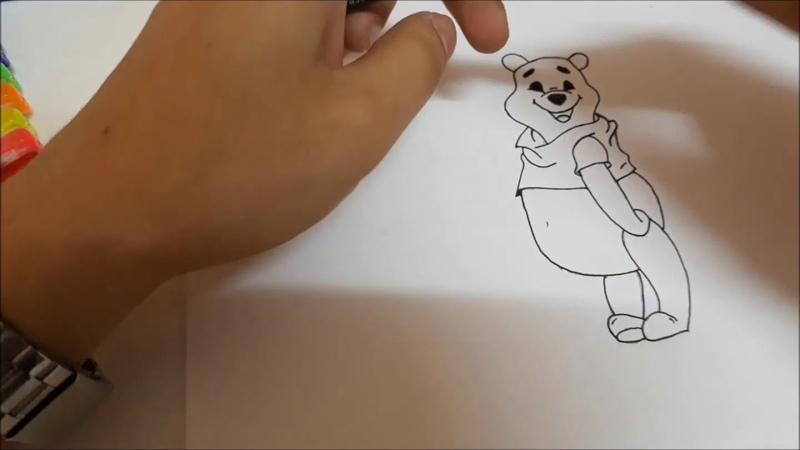 Рисуем медвежонка Винни из мультика Новые приключения Винни Пуха вместе! №14
