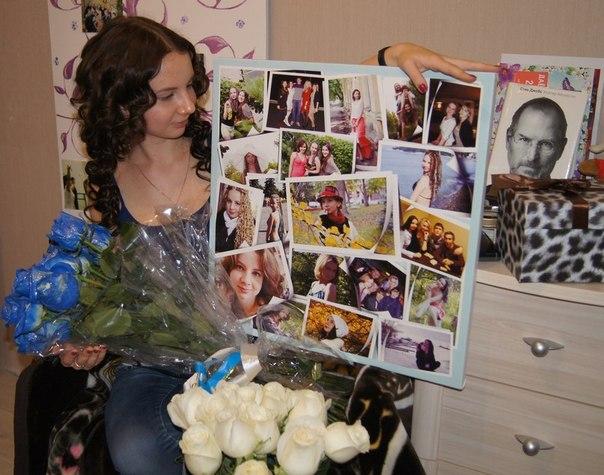 Подарок из фотографий на день рождения маме своими руками