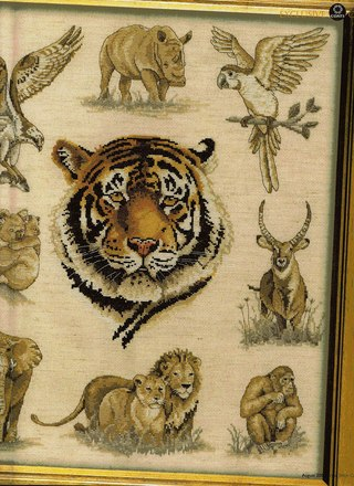 Схемы вышивки с ТИГРАМИ,
