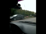 ДТП около ГПЗ. Машина в кювете, столб снесли