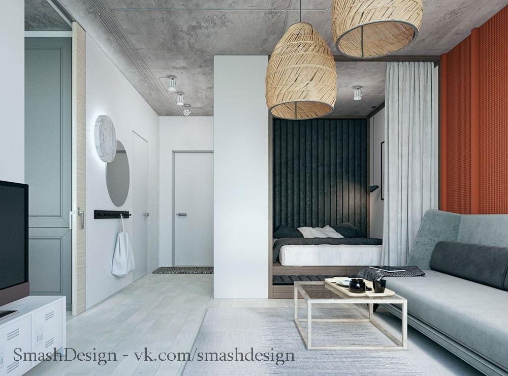Чудеса планирования: просторная квартира 24 кв.