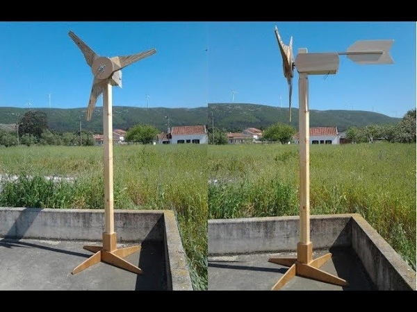 Construa uma turbina eólica caseira com madeira e motor de scooter