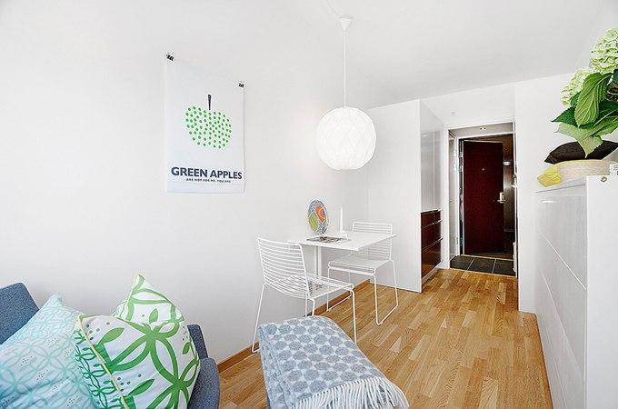 Малогабаритная квартира-студия: счастливые 13 метров в Стокгольме / Швеция - http://kvartirastudio.