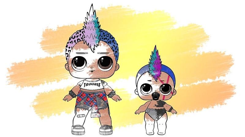 LOL Surprise! Punk Boi Lil Punk Boi Change COLOR Coloring Book Раскраска ЛОЛ Мальчик ПАНК