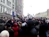 Харьков. Подяните Российского флага возле Мерии