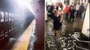 Water pours into NYC subway stations as remnants of Florence make for wet commute