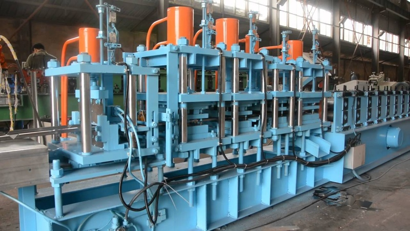 Electronic cabinet roll forming machine video