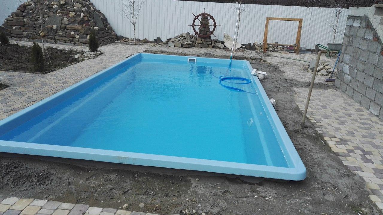 Установка композитного бассейна, готовый пластиковый бассейн для дома и дачи Краснодар