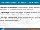 Provides the best ACS RPL Report