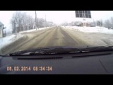 Не уступили дорогу, почти ДТП, Тирасполь 06/02/2014г.