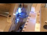 шипорезный пантографный станок на базе ручного фрезерного по дереву
