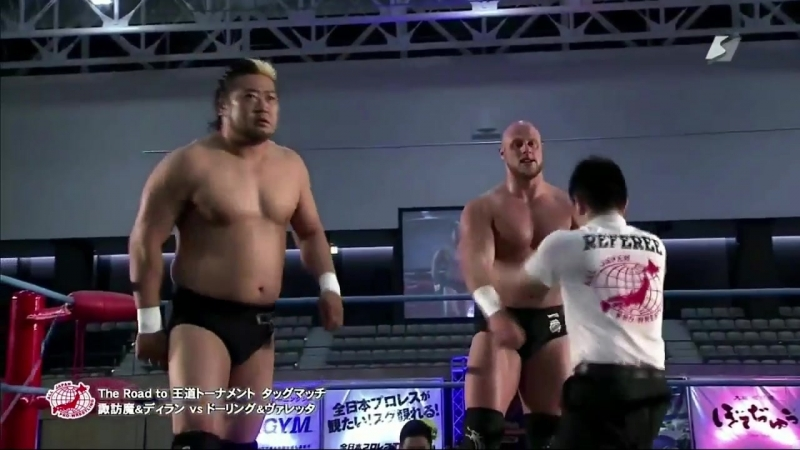 Suwama, Dylan James vs. Joe Doering, Gianni Valletta (AJPW - Summer Explosion 2018 - Day 9)