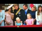 British Royal Family Depart &amp Meghan's BALCONY DEBUT ALL MOMENTS - Trooping The Colour 2018