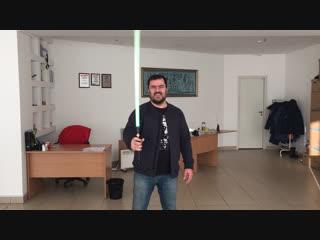 Счастливый обладатель светового меча!!!