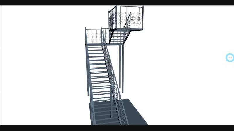 3D Проект лестницы.
