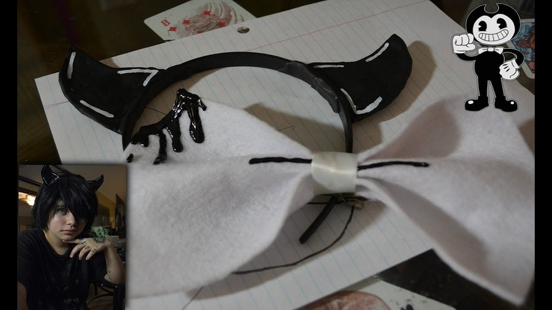 Making Bendys Horns and Bowtie DIY Cosplay