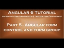 Angular form control and form group
