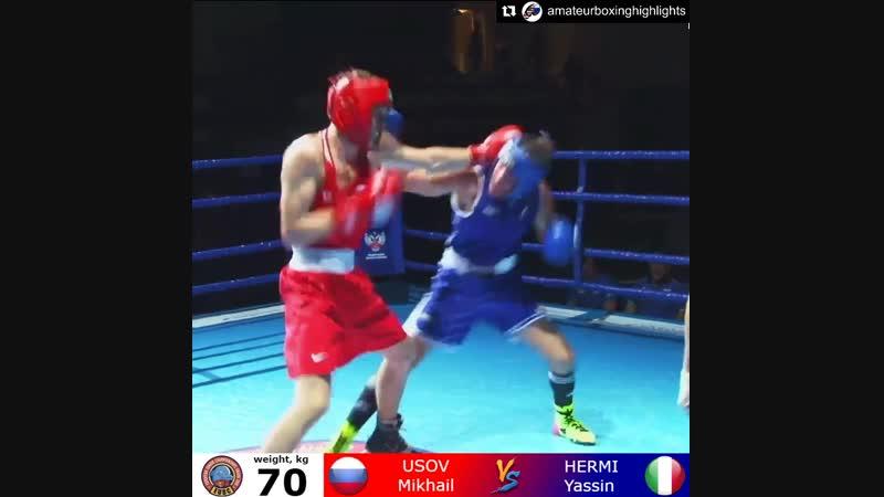 Михаил Усов (2003/70кг) Европа 2018 Финал
