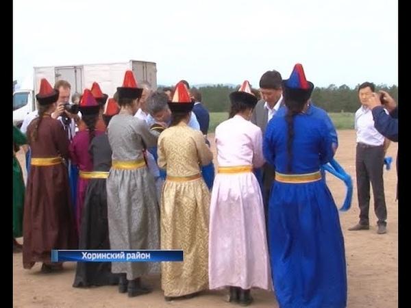 Алексей Цыденов посетил с рабочим визитом Хоринский и Кижингинский районы