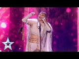 Beware of the WOLVES! Olena Uutai opens the show in style with unique act! Semi-Finals BGT 2018