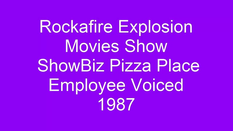 Rock-afire Explosion ~ Movies Show ~ ShowBiz Pizza Place Employees Voiced ~ 1987