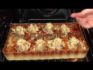 Рис с овощами и куриными ножками блюдо для ленивых rice with vegetables in the o