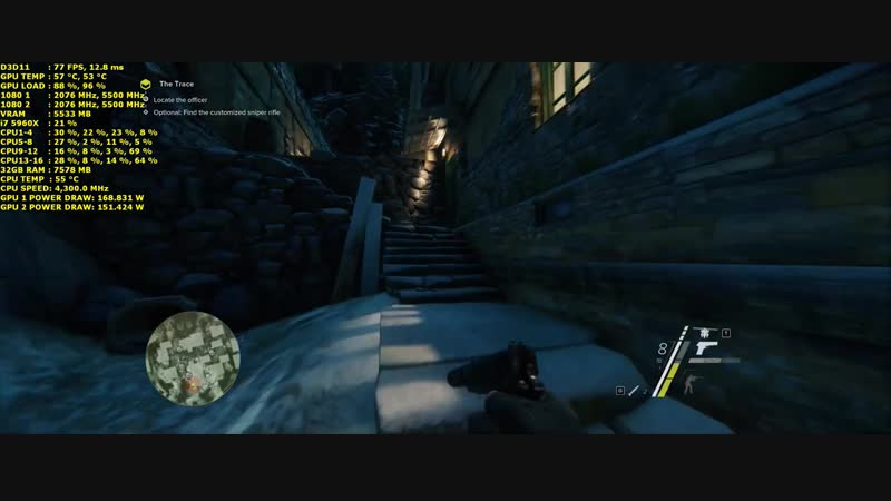 Sniper Ghost Warrior 3 Very High Settings 3440x1440 GTX 1080 SLI i7 5960X 4.3Ghz