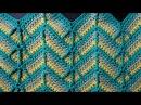 Уроки вязания Crochet and knitting. Узоры вязания крючком...Видео:  1.Узор 18 Чешуйки